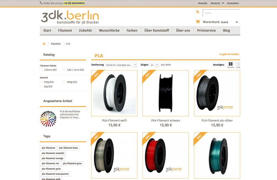 3dk.berlin - Kunststoffe für 3D Drucker