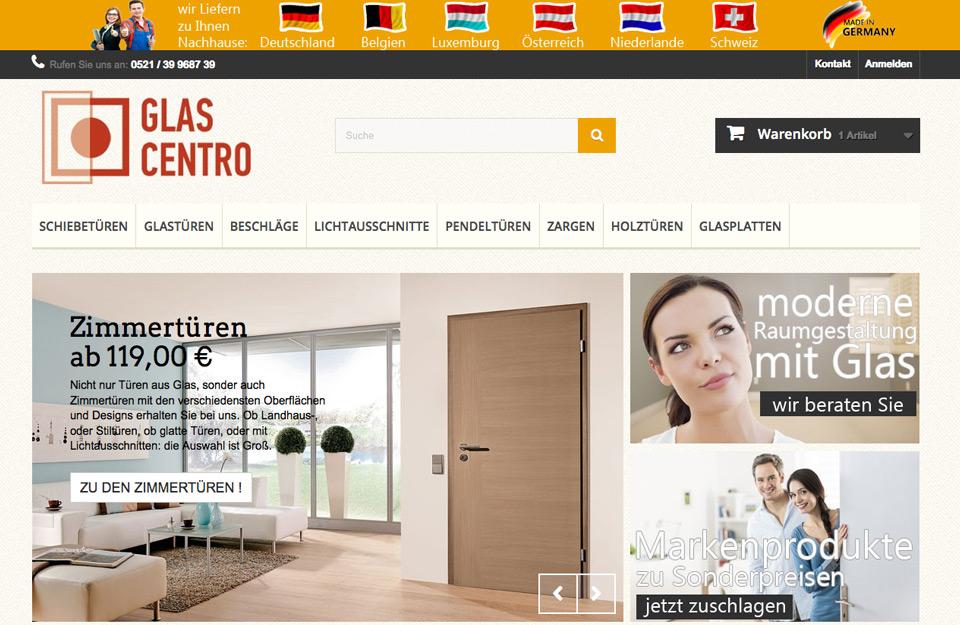 Webhosting Perstashop Onlineshop glascentro.de